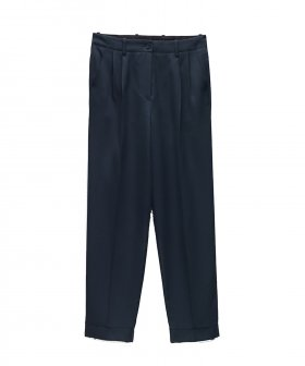Forte_Forte - Forte_Forte Wool Diagonal Pince Pants