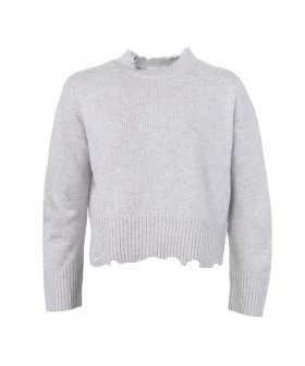 Helmut Lang - Helmut Lang Distressed Crew Pullover