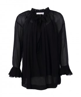 See By Chloé - See By Chloé Tie Blouse