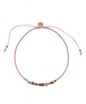 STINE A - S.A Candy Bracelet - Multi Mix and Light Pink Rib