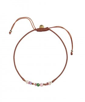 STINE A - S.A Candy Bracelet - Multi Mix and Rust Ribbon