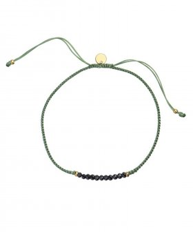 STINE A - S.A Candy Bracelet Dusty Green Ribbon