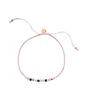 STINE A - S.A Candy Bracelet - Black Mix and Soft Pink Ribbo