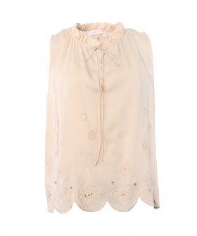 See By Chloé - See By Chloé Top with Flower Embroidery