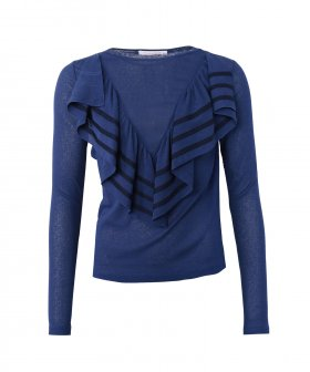 See By Chloé - See By Chloé Shirt w. Ruffles and stripes