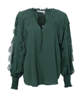 See By Chloé - See By Chloé Blouse with Flower Sleeves