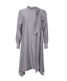 See By Chloé - See By Chloé Striped Dress w. Tiebow