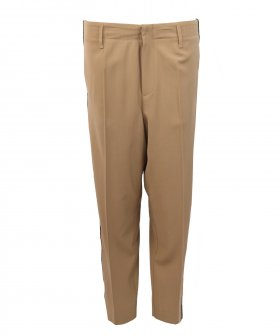 Forte_Forte - Forte_Forte Wool Pants with Side Ribbon Tape