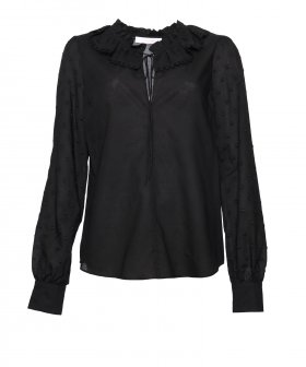 See By Chloé - See By Chloé Ruffle Neck Shirt