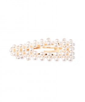 Triangle Hairclip big Pearls