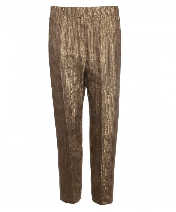 Forte_Forte - Forte_Forte Lurex Linen Pants with Elastic