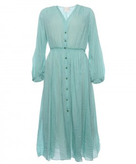 Forte_Forte - Forte_Forte Long Sleeves Dress azur