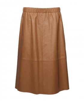 Stand - Stand Eliana Leather Skirt Camel