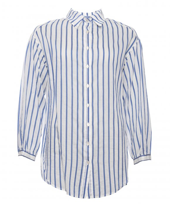 Forte_Forte - Forte_Forte Oversized co/se Stripe Shirt
