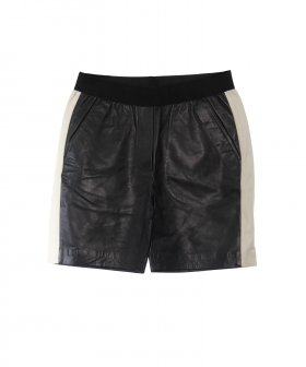 Sign - Sign leather shorts w. Stripe