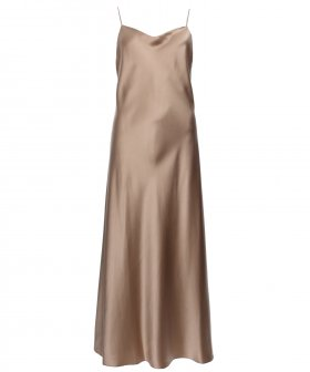 Joseph - Joseph Stone-Silk Satin Dress