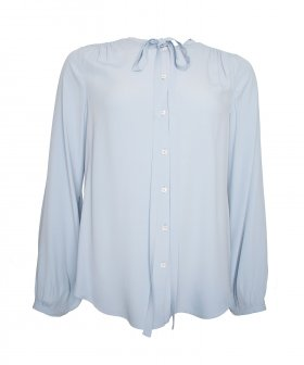 Nº21 - No.21 Silk Shirt with tie detail